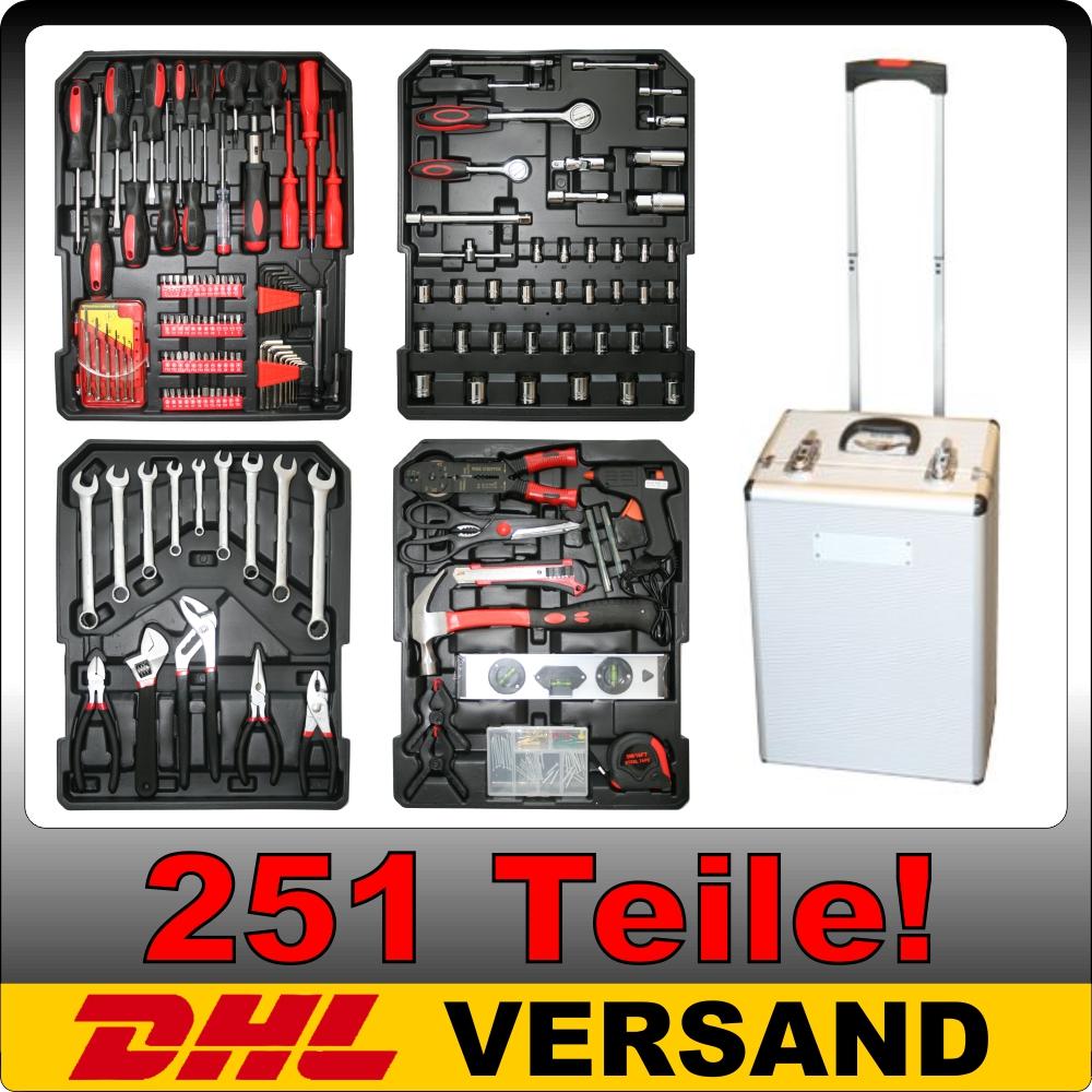 251-tlg-Werkzeugkoffer-Werkzeugkasten-Werkzeugbox-Werkzeugkiste